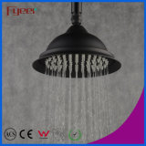 8 Inch Round Black Brass Rain Showerhead (QH3268-1B)