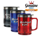 Plastic Rind and Stainless Steel Inner Desk Mug Promotional Cup