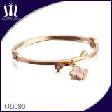 Custom Shell Clovers Charm Bracelet Ob098