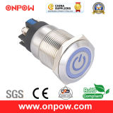 Onpow 19mm Metal Pushbutton Switch (LAS1GQ-11ET/L/G/12V/S, CE, CCC, RoHS)