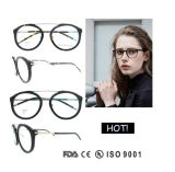 Women Hot Sale Big Round Eyewear Glasses Ce FDA Appoved