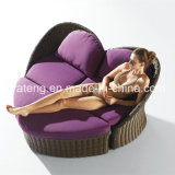 Latest Design Rattan Outdoor Furniture Double Lounge with Cushion