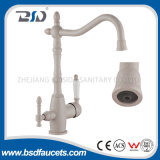 Brass Marble Surface Elegant Three Way Kitchen Faucet for RO