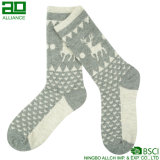 Deer Pattern Snow Christmas Men Socks
