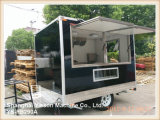 2.9m Black Glass Re-Enforced Panel Coffee Trailer Pizza Trailer