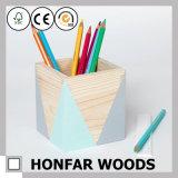 Office Supply Modern Wooden Pen Pot Pen Holder Wooden Craft