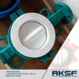 Aksf Brand PTFE Seat Concentric Butterfly Valve