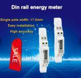 Single Phase 1 P LCD DIN Rail Single Pole Kwh Meter