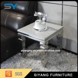 Chinese Marble Side Table Metal Base