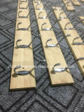 High Quality Bamboo and Wood Rows of Coat Hook (ZH-H001)