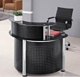 Glass Top Reception Office Desk Modern Office Furniture (HX-GL209)