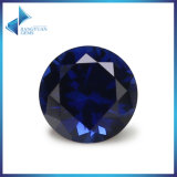 Small MOQ AAA Quality 1mm-5mm Round 34# Blue Corundum Stone Synthetic Ruby Loose Gemstone