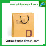 High Quality Recycle Grocery & Sos Brown Paper Carrier Bag with Logo