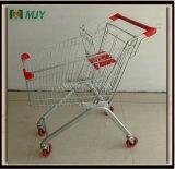 60 Liters Metal Budget Shopping Cart Mjy-60b-PVC