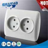 EU Non- Grounding 2 Gang Wall Socket/European Standard /2 Pin