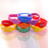 Colorful RFID Smart Wristband / Bracelet with Logo Printing