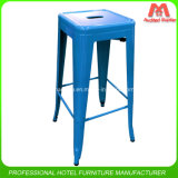 Colourful Stacking Metal Bar Stools for Club
