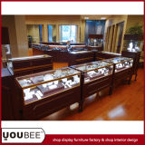 Vintage Wooden Jewelry Display Showcases for Jewelry Retail Shop Decoration