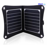 7W Portable Solar Charger Fodable Solar Panel Charger USB Output for iPhone, Samsung, Blackberry, iPod and Any USB Devices with 23% Cell Efficiency (FSC-07A)