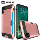 Card Slot Hyrbid Hard Shockproof Case for iPhone 8 Cover