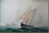 Oil Painting of Sailing in The Sea