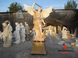 Marble Stone Carved Angel Sculpture / Statues for Garden & Landscape