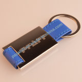 Metal Leather Car Brand Logo Key Chain