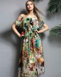 Sexy Floral Printing Chiffon Long Sundress