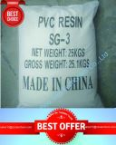 Qualified PVC Resin Sg-3 for Flexible Plastics/Sandals