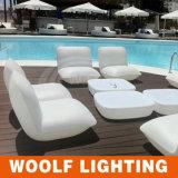 More 300 Designs LED Lighting PE Plastic Furniture LED Bar Sofa