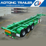Tri-Axle 40FT Skeleton Container Chassis Extendable Semi Truck Trailer