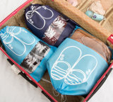 Household Travel Dust-Proof Shoe Organizer Non Woven Drawstring Bags with Transparent Window