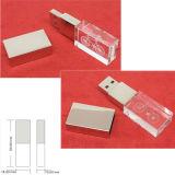 Laser Logo Printing Colorful Light USB Flash Disk Transparent USB Memory Disk