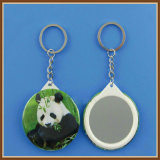 New Design Printed Panda Image Pendant Key Chain