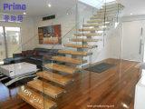 Interior Design Glass Railing Wooden Tread Staircase