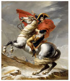 Famous Artists Oil Painting, Bonaparte Crossing The Grand Saint-Bernard Pass, 20 May 1800-Jacques-Louis David