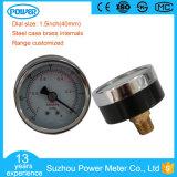 Ce 1.5inch 40mm Vacuum Gauge -1 Bar and -30 Inhg Back