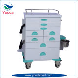 Emergency Anesthesia Hospital Trolley with Drawers
