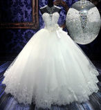 Sweetheart Crystals Wedding Dress Bridal Wedding Gown (H13363)