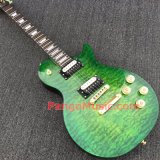 Pango Lp Standard Electric Guitar with Green Quilted Maple Top (PLP-024)