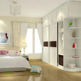 2017 Newest Modern Black and White Push and Pull Move The Door Wardrobe