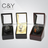 Small Single Wooden Automatic Watch Winder with Acrylic Window