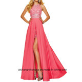 Women Beading Chiffon Backless Evening Dress Prom Dress
