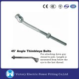 Pole Line Hardware Galvanzied Thimble Eye Bolt (Angle Type)