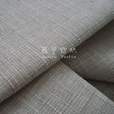 100% Polyester Slubbed Linen Fabric with Knitted Back