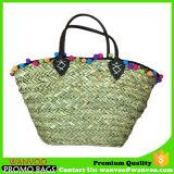 Custom Seagrass Woven Beach Bag for Lady