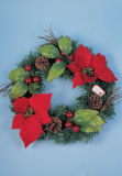 Christmas Garland / Christmas Floral Hoop / Christmas Stephanie
