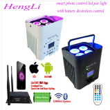 Wedding/Disco/Show/Bar/Party Mobile Phone Control Wireless battery Operated LED Flat PAR
