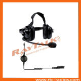 Heavy Duty Headphones with Microphone/Two Way Radio Headset with XLR Cable