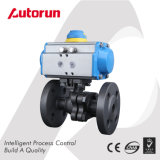 Wcb/Cast Steel Pneumatic Flange Ball Valve with Air Regulater